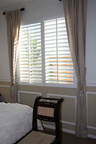 Polywood Shutter with side curtains